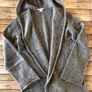 CAbi Hooded Open Cardigan